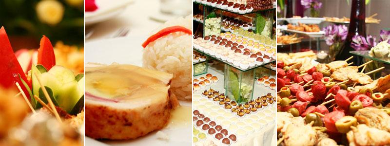 Tipos de catering cóctel, buffet, banquete